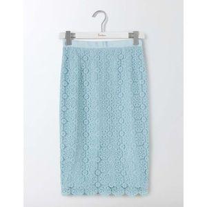"""Boden Alexa """"Light Blue"""" Lace Pencil Skirt"""